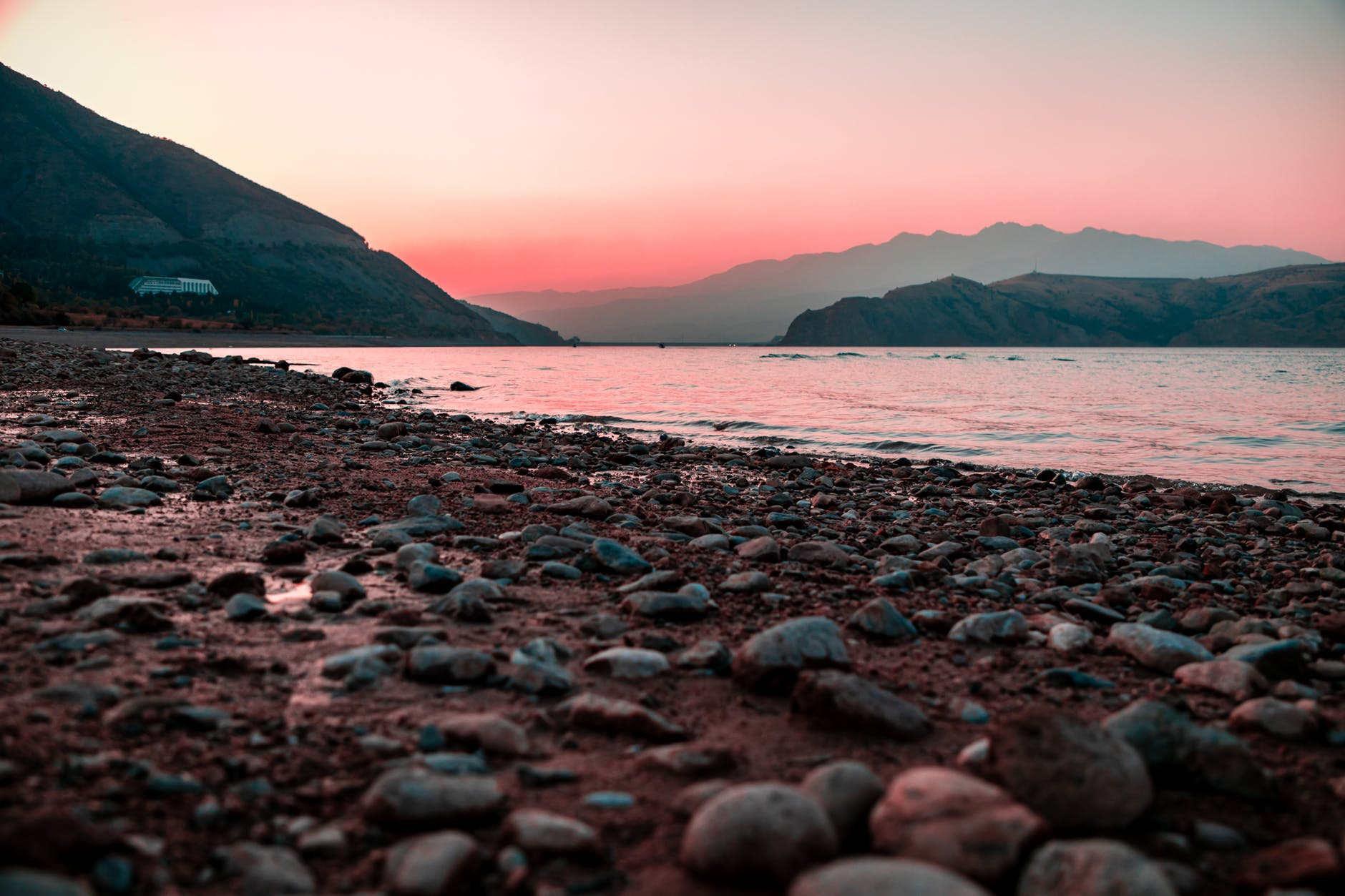 photo of rocky seashore